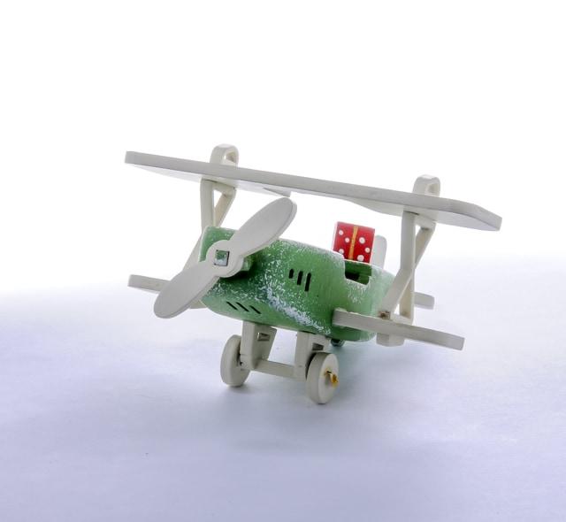 Елочная игрушка, сувенир - Самолет Биплан 6017 Classic