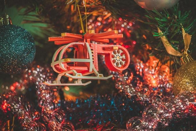 Елочная игрушка - Вертолет малый 3020
