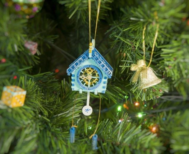 Елочная игрушка, сувенир - Часы с маятником 56GG64-25804 Blue Roof