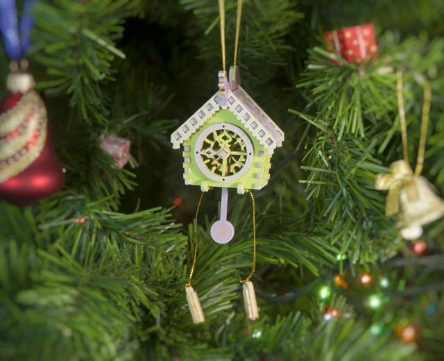 Елочная игрушка, сувенир - Часы с маятником 90YY61-504