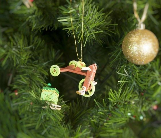 Елочная игрушка - Детский велосипед 410-3 Classic  Lime Wheels