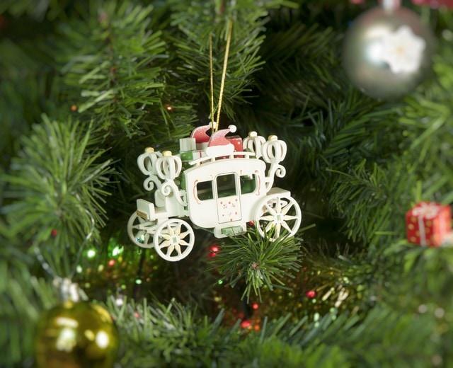 Елочная игрушка, сувенир - Карета крытая 6017 Santa