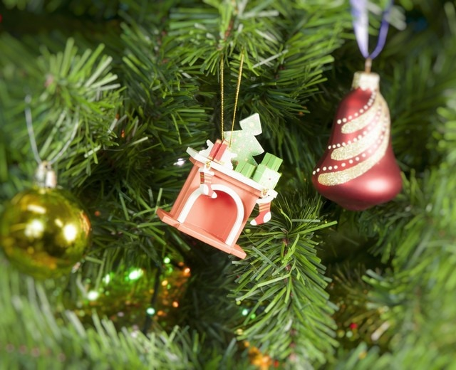Елочная игрушка - Камин 410-3 K Tree