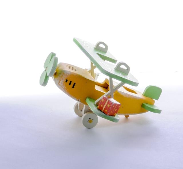 Елочная игрушка, сувенир - Самолет Биплан 370-1
