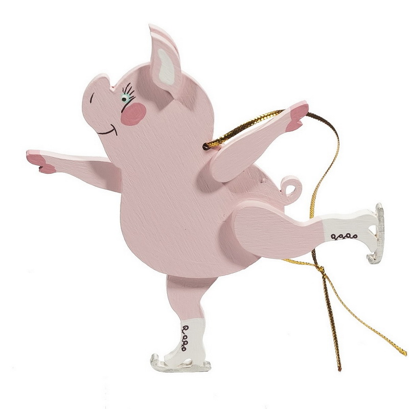 Символ 2019 года - Свинка фигуристка 490-1