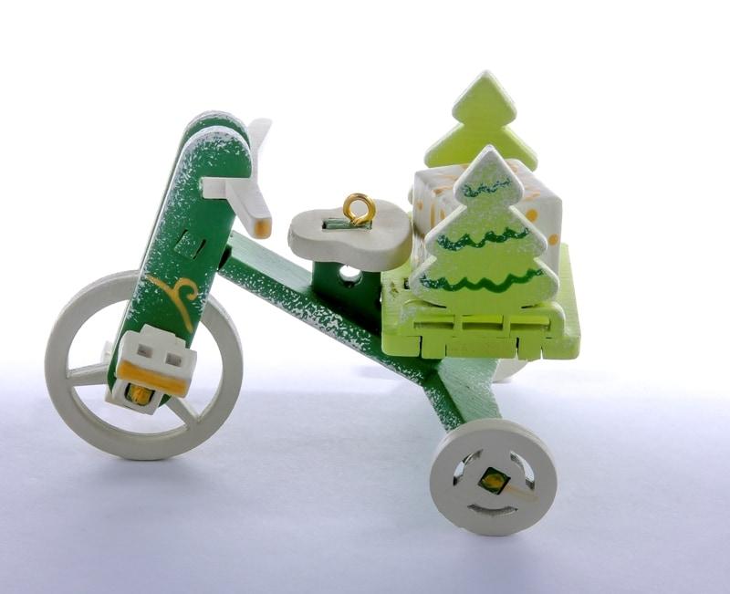 Елочная игрушка - Детский велосипед с багажником 6017 Tree