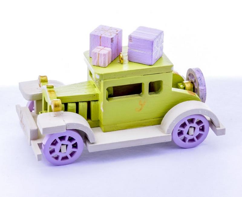 Елочная игрушка, сувенир - Машинка легковая 90YY61-504