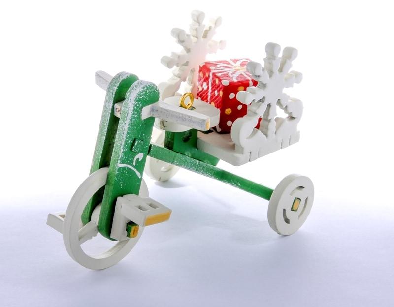 Елочная игрушка - Детский велосипед с багажником 6017 SnowFlake