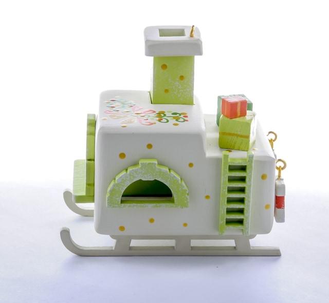 Елочная игрушка, сувенир - Печка Русская 1013 Lime