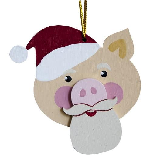 Елочная игрушка Символ 2019 года - Свин подвеска - Christmas Pig 310-2
