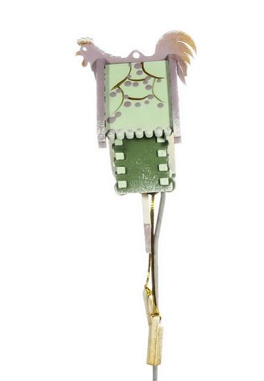 Елочная игрушка, сувенир - Часы с маятником 6011