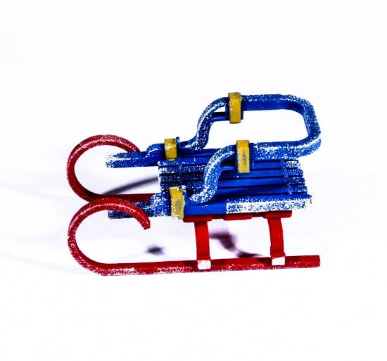 Елочная игрушка - Санки Большие 640-6