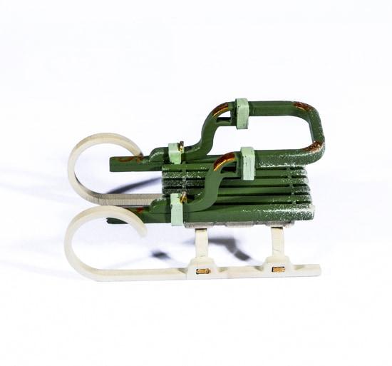 Елочная игрушка - Санки Большие 6011