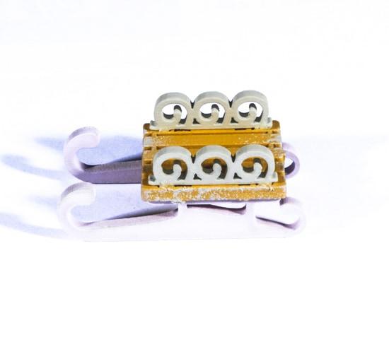 Елочная игрушка - Санки малые 370-1 Twirl