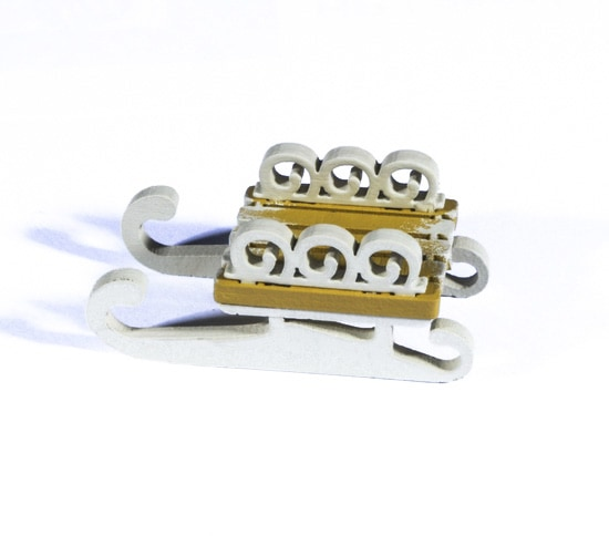 Елочная игрушка - Санки малые 290-3 Twirl