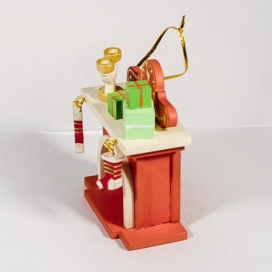 Елочная игрушка - Камин 410-3 S