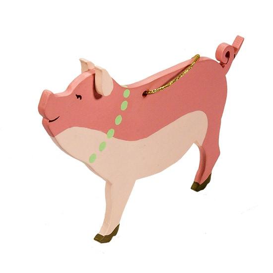 Символ 2019 года - Свинка с бусами 3015