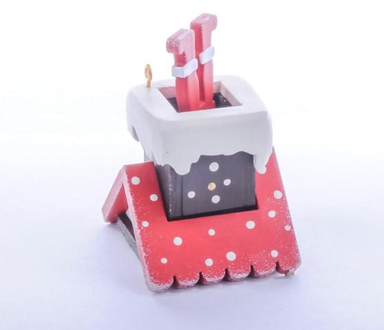 Елочная игрушка - Домик с ногами Санта Клауса 3020