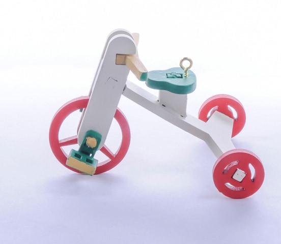 Елочная игрушка - Детский велосипед 1013 Classic Red Wheels