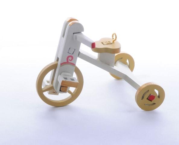 Елочная игрушка - Детский велосипед 1013 Classic Yellow Wheels