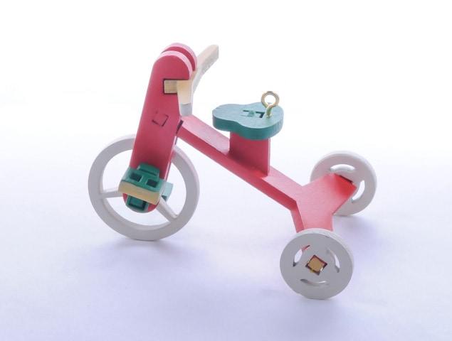Елочная игрушка - Детский велосипед 3020 Classic Green Seat