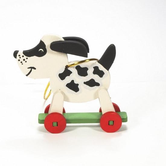 Елочная игрушка - Дворняжка белая 1013 Black Spots