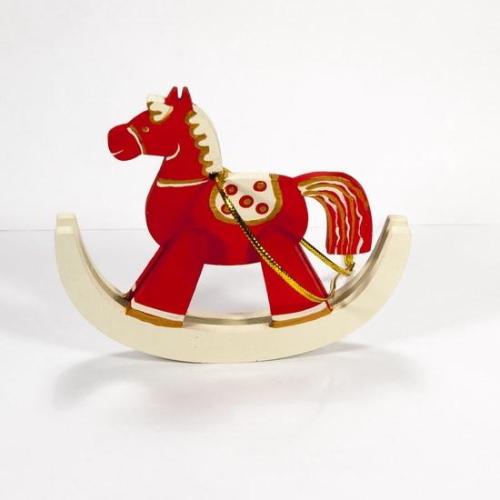 Елочная игрушка - Лошадка на качалке 3020