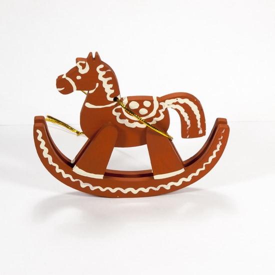 Елочная игрушка - Лошадка на качалке 360-5