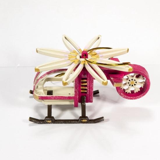 Елочная игрушка - Вертолет малый 4010