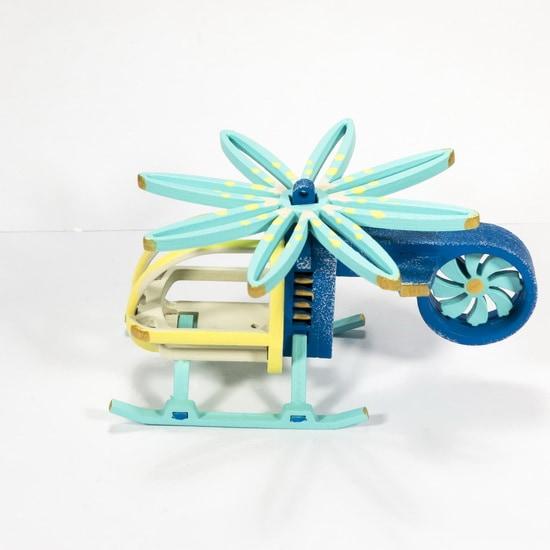 Елочная игрушка - Вертолет малый 650-3