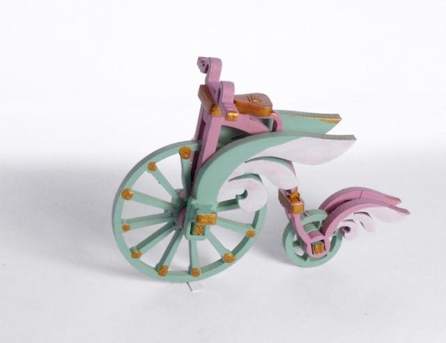 Елочная игрушка - Ретро велосипед 3015  Angel