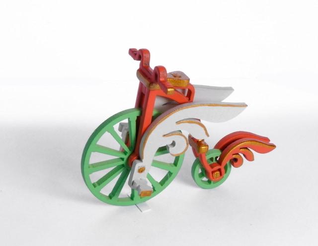 Елочная игрушка - Ретро Велосипед 410-3 Angel