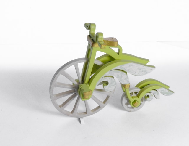 Елочная игрушка - Ретро Велосипед 90YY61-504  Angel