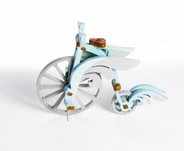 Елочная игрушка - Ретро велосипед 56GG64/25804  Angel