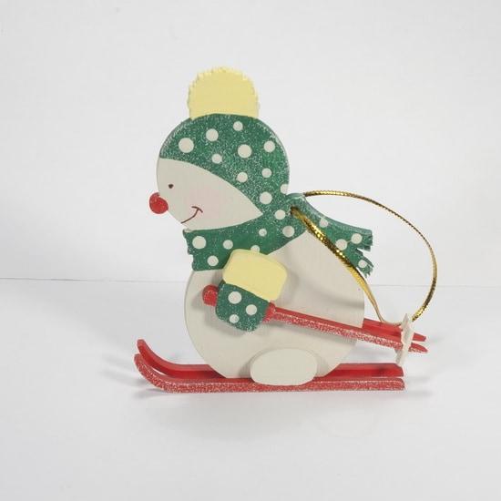 Елочная игрушка - Снеговик в шапочке 6029