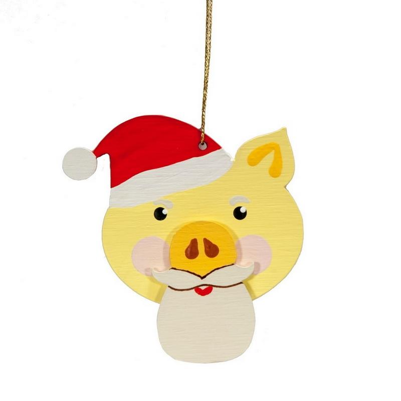 Символ 2019 года - Свин подвеска малая - Christmas Pig 270-1