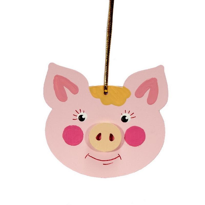 Символ 2019 года - Свинка подвеска 490-1