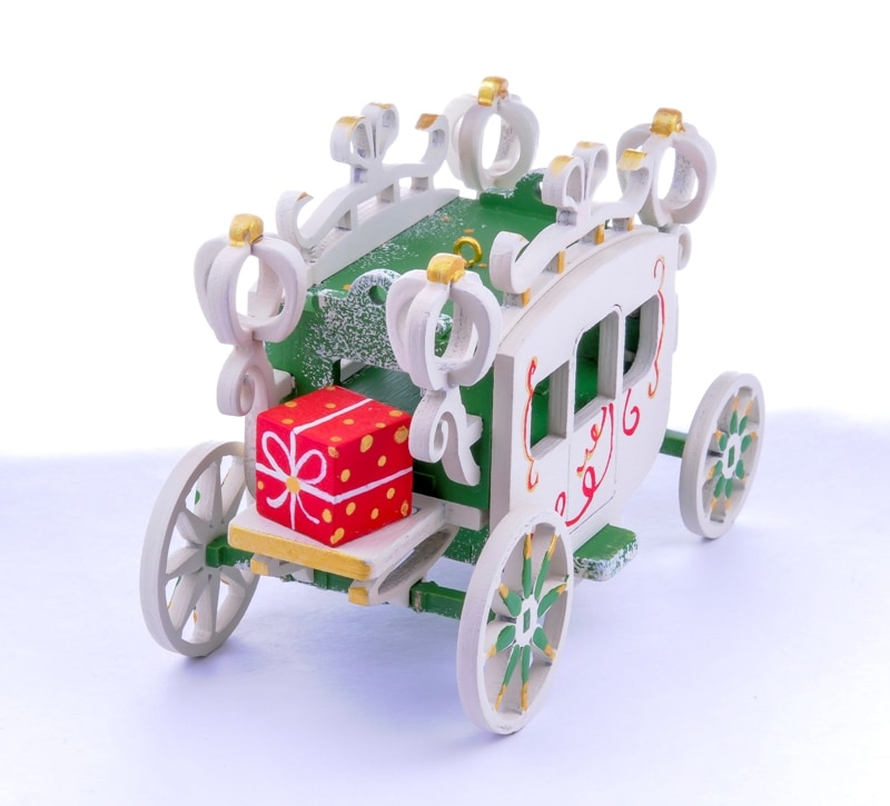 Елочная игрушка, сувенир - Карета крытая 6017