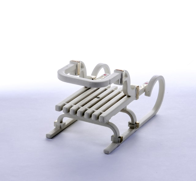Елочная игрушка - Санки Большие 1013