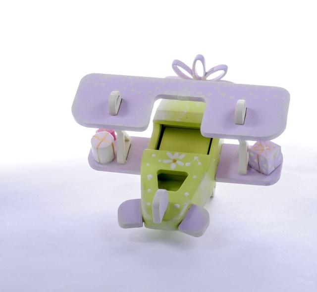Елочная игрушка, сувенир - Самолет Биплан 90YY61-504 Modern