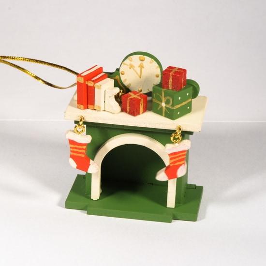Елочная игрушка - Камин 6017 K