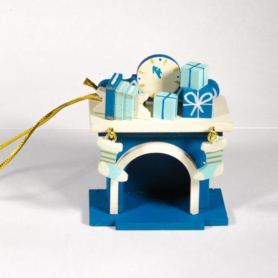 Елочная игрушка - Камин 650-3 K