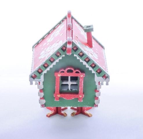 Елочная игрушка, сувенир - Избушка на курьих ножках 6017