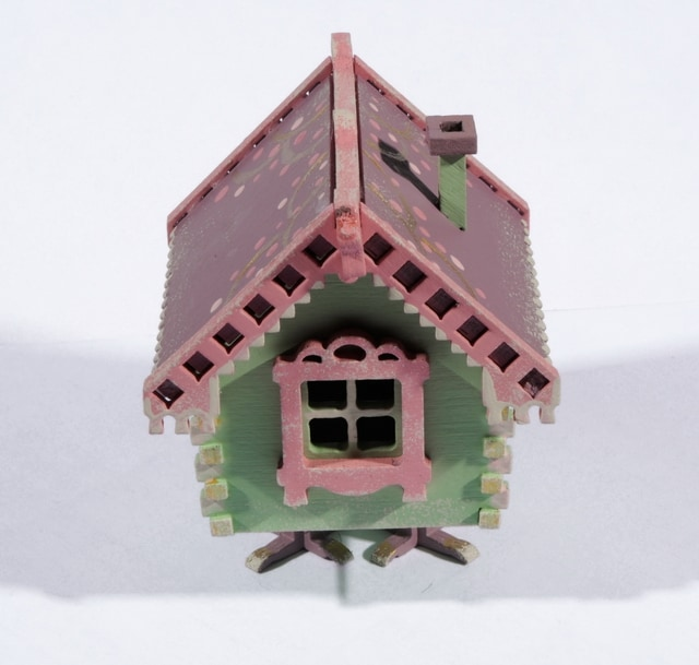 Елочная игрушка, сувенир - Избушка на курьих ножках 760-2