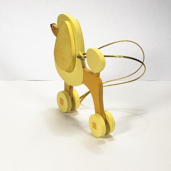 Елочная игрушка - Пудель желтый 270-1