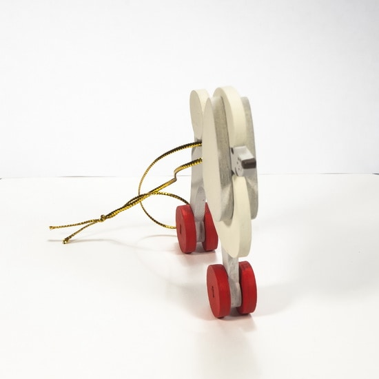 Елочная игрушка - Пудель белый 1013