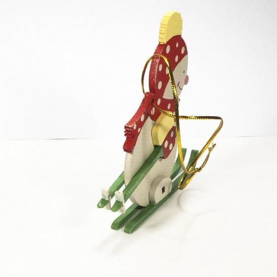 Елочная игрушка - Снеговик в шапочке 3020