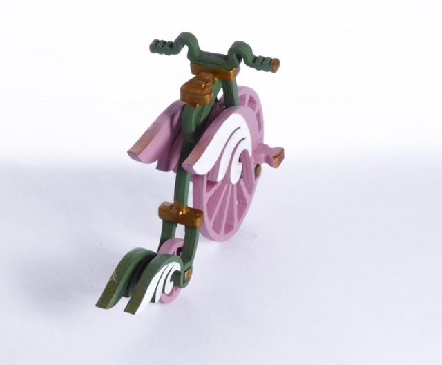 Елочная игрушка - Ретро велосипед 6011 Angel