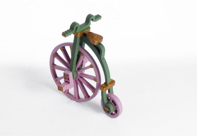 Елочная игрушка - Ретро велосипед 6011 Classic