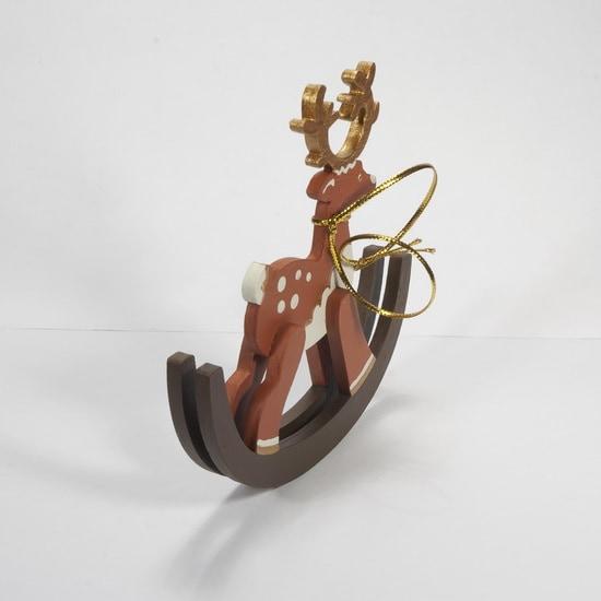 Елочная игрушка - Олень на качалке 360-5